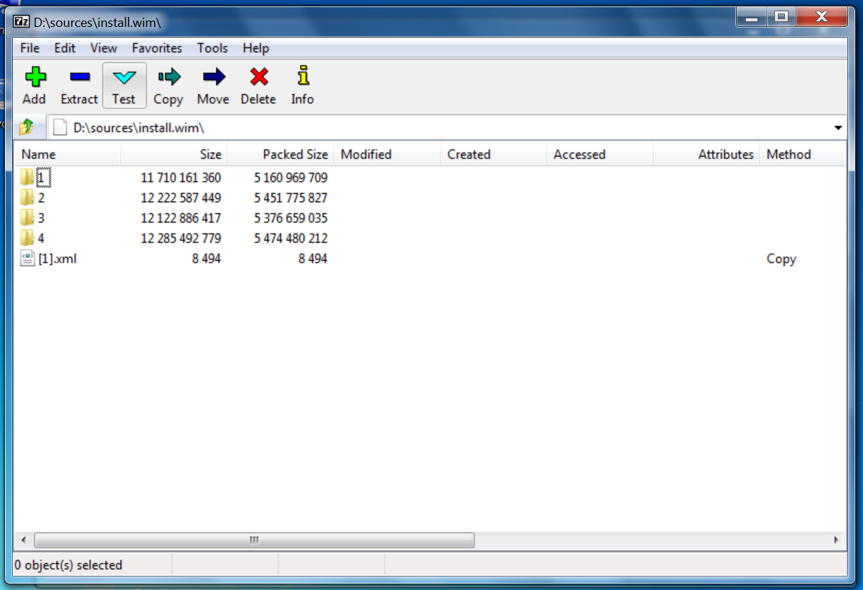 Open the WIM file.