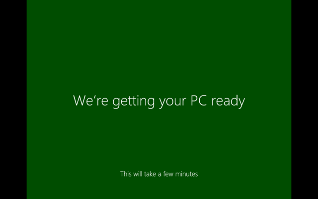We're getting your PC ready