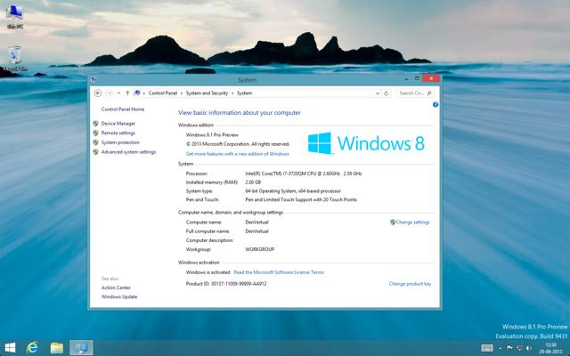 Windows 8.1 System
