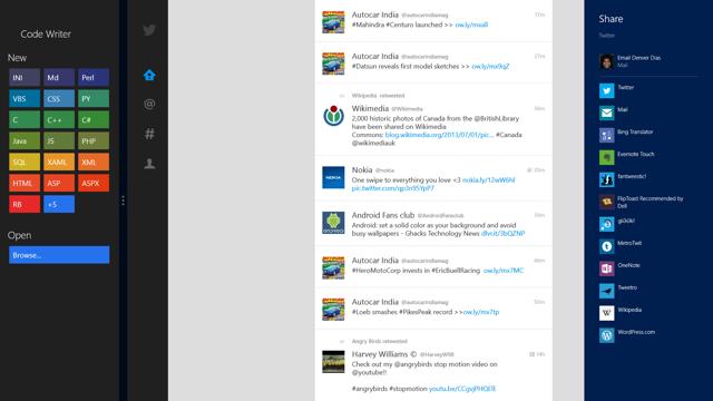 Share charm on Windows 8