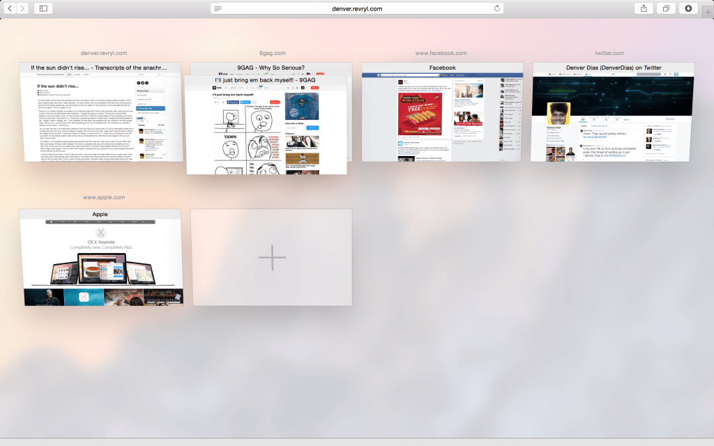 Safari's tab view