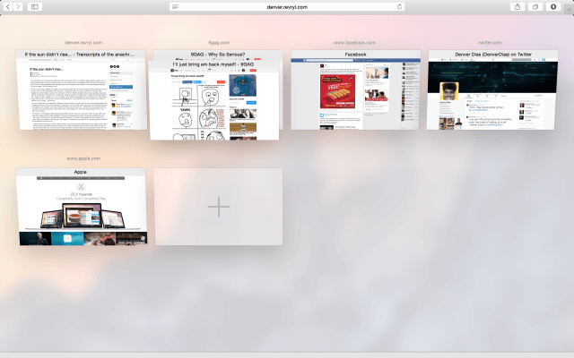 Safari's tab view