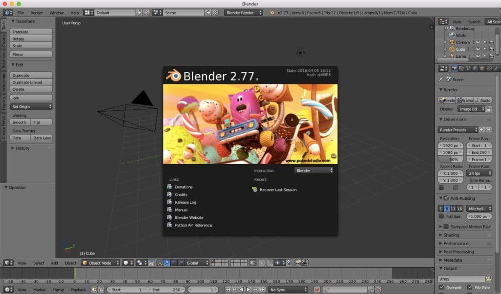 Blender 2.77 splash screen