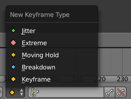 Blender Keyframe Types